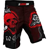 Shorts SKULL SMMASH Red MMA BJJ UFC Boxen Kampfsport K1 S M L XL XXL