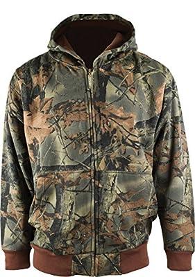 Trail Crest Boy's Camo Hooded Sweatshirt Hunting Jacket