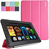 Poetic Slimline Case for New Kindle Fire HDX 7 (2013) 7inch Tablet Magenta (With Smart Cover Auto Sleep / Wake Feature) (3 Year Manufacturer Warranty From Poetic)