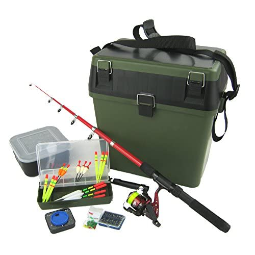 Complete Junior Beginners Fishing Kit & Tackle Seat Box Set