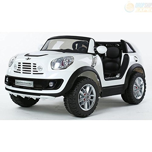 electric battery ride on car for kids mini cooper beachcomber model jj298 white little kid cars