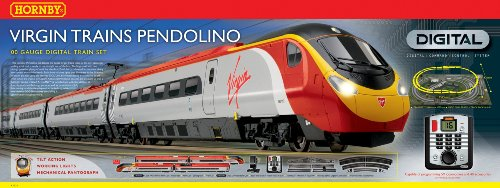 Hornby Virgin Trains R1076 Virgin Trains Pendolino 00 Gauge Digital (DCC)  Train Set