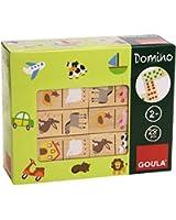 Goula - 50267 - Jouet en Bois - Eveil - Domino - Ferme