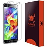 Skinomi TechSkin - Samsung Galaxy S5 Screen Protector Premium HD Clear Film / Lifetime Replacement Warranty Ultra High Definition Invisible and Anti-Bubble Crystal Shield for Galaxy S 5 - Retail Packaging (AT&T, Sprint, T-Mobile, Verizon, US Cellular, Boost Mobile)