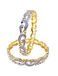 Aabhushan Jewels Gold Plated American Diamond Bangles For Women - B00WUE96Z4