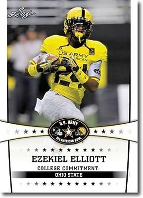 """Ezekiel Elliott 2013 Leaf """"1st Ever Printed"""" U.s. Army High School All-american Rookie Card! W/h Toploader!"""