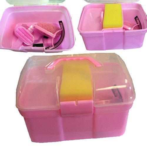 Intrepid International Junior 8-Piece Grooming Kit, Pink