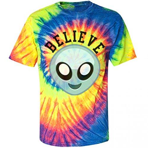 Believe Grunge Alien: Unisex Gildan Tie-Dye Spiral T-Shirt (Grunge Tie Dye compare prices)
