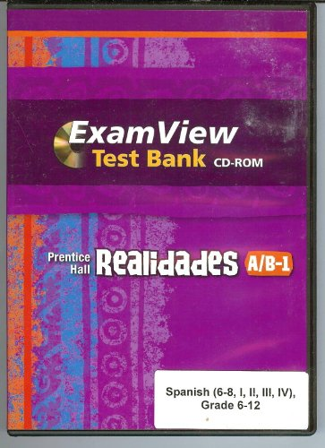 Prentice Hall Realidades A/B-1 ExamView Test Bank CD-ROM (Spanish 6-12)