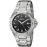 Bulova 96E111 Diamond Grey Dial Stainless Steel Men's Bracelet Date Dress Watch