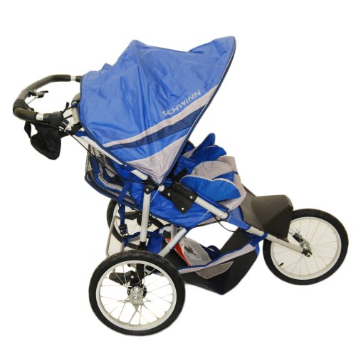 Schwinn Free Runner 2 Double Jogging Stroller (Blue/Gray)