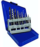Irwin Industrial Tools 11119 Metal Index Spiral Flute Screw Extractors with Left Hand Cobalt Drill Bits Set, 10-Piece