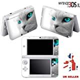 Super Funky Cats Eyes Skin Sticker For Nintendo 3DS XL Console Vinyl Skin Cover In A Retail Pack. Ready For Fast 1st Class UK Post.