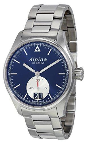 Alpina-Mens-AL-280NS4S6B-Startimer-Pilot-Big-Date-Analog-Quartz-Silver-Watch