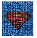 "Generic Superman Bathroom Unique Design Popular Bath Shower Curtain 66""x72""Inch PU-0283"