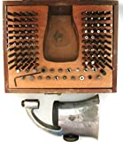 #T203 Vintage GF complete staking set in nice wooden case with handle.