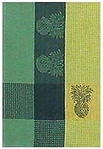 "100% Cotton Green & Yellow 18""x28"" Dish Towel, Set of 6 - Pineapple Yellow"