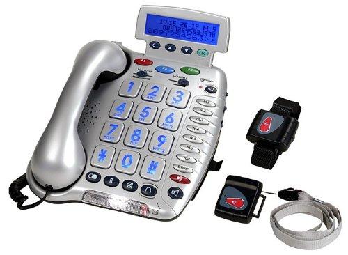 Geemarc CL600 Téléphone grosses touches Appel d'urgence à distance (version Française)