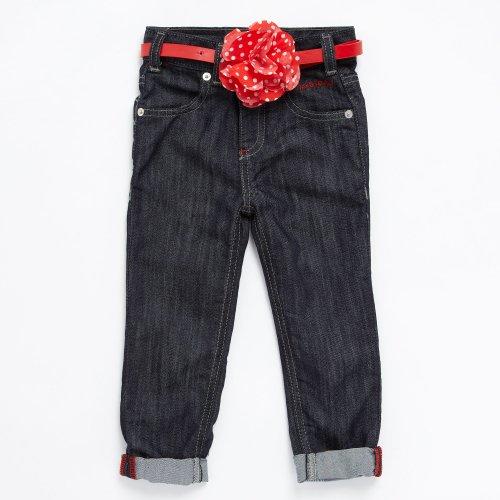 J by Jasper Conran Designer Girl's Dark Blue Corsage Belt Jeans