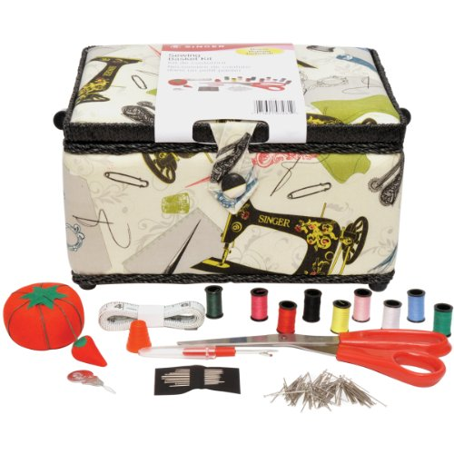 Best Review Of Singer Vintage Sewing Basket with Sewing Kit Accessories