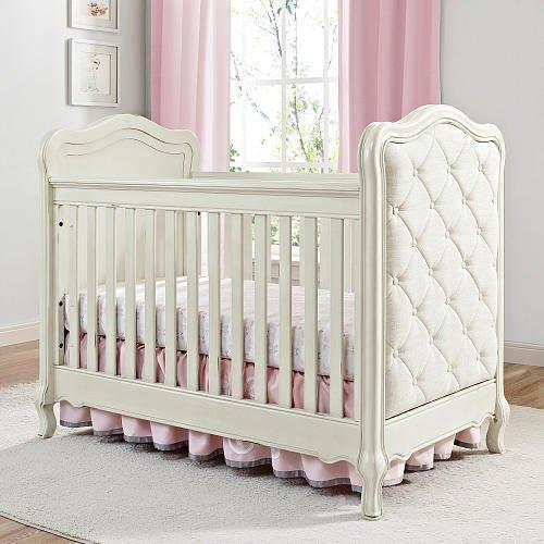 Bertini Tinsley 3-in-1 Upholstered Crib - Antique White 0