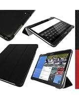 """igadgitz Premium Noir Cuir PU avec Coque Arrière Rigide pour Samsung Galaxy Tab Pro 10.1"""" SM-T520 Smart Cover Etui Housse Case avec Support Multi-Angles + Mise en Veille/Réveil + Film de Protection"""