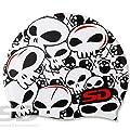 Many Skulls Villain Image Swim Swimming Silicone Cap