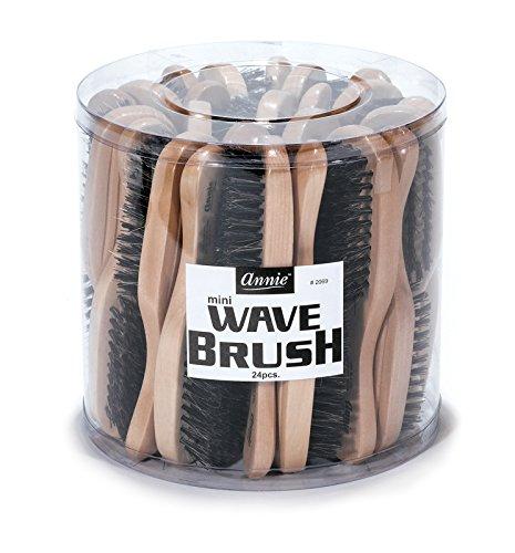 Annie Mini Wave Brush Bulk, Hard Bristles, 24 Count (Mini Hair Brush Bulk compare prices)