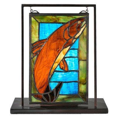 Meyda Tiffany 71610 Trout Lighted Mini Tabletop Window