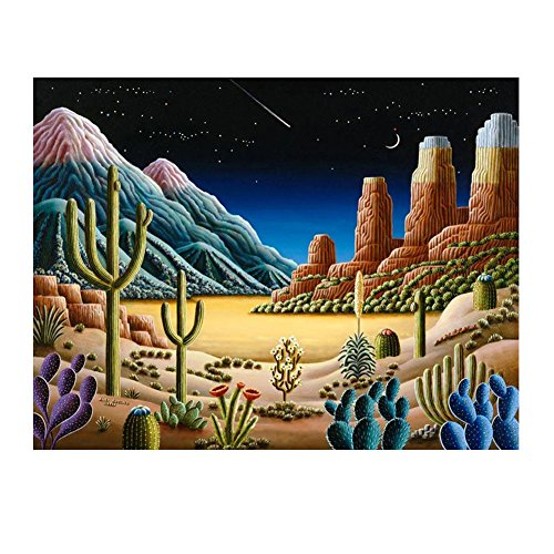 Whitelotous Dreamy Scenery 5D Diamond Painting Embroidery DIY Paint-By-Number Kit Home Wall Decor 16 x 12 Inch