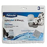 Petmate Replendish Charcoal Replacement Filters, 3-Pack