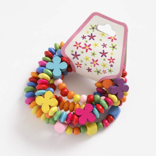 Wooden Bead Bracelets Set of 5 for Children