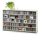 CDラック DVDラック 大量収納 最大CD695枚 薄型壁面型 ロータイプ ホワイト色