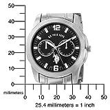 U.S. Polo Assn. Men's USC80036 Analogue Black Dial Metal Link Watch