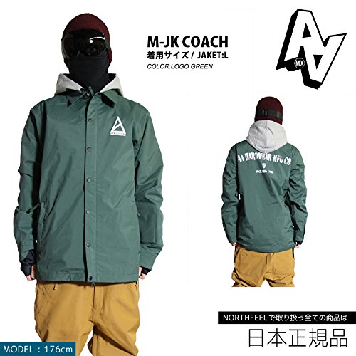AA HARDWEAR ( ダブルエー ) COACH JACKET コーチ ジャケット (LogoGreen, Lサイズ)