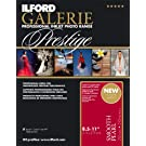 Ilford 2001753 GPSPP12 GALERIE 8.5 x 11 Inches Prestige Smooth Pearl 250 Count Photo Inkjet