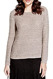 Per Una Rear Crochet Knitted Jumper with Mohair [T62-0339K-S]