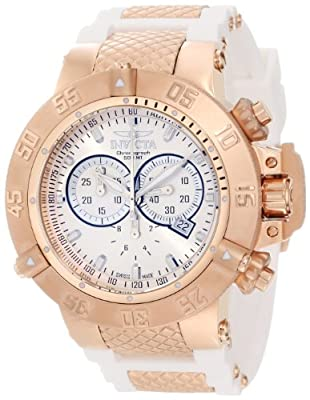 Invicta 11831 Men's Subaqua Noma III Swiss Quartz Chronograph Rose Tone and White Watch