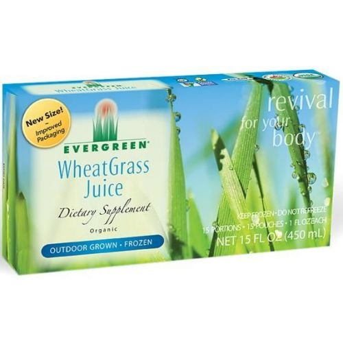 Evergreen Organic Wheatgrass Juice, 1 Fluid Ounce - 15 per pack -- 12 packs per case. (Watermelon Rind Juice compare prices)