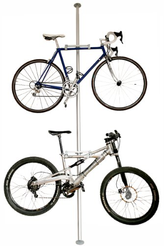 Royal Chrome Stacked Floor to Ceiling All Metal Bike Rack