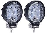 (スタンセン) Stansen LEDワークライト LEDライトバー オフロード 防水作業灯 CREE製27W 9連10-30VDC対応(12V/24V兼用)丸型 2個セット [並行輸入品]