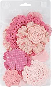 Prima Marketing Sweet Taffy Flowers, 1.5-Inch by 3.5-Inch, Pink, 12-Pack