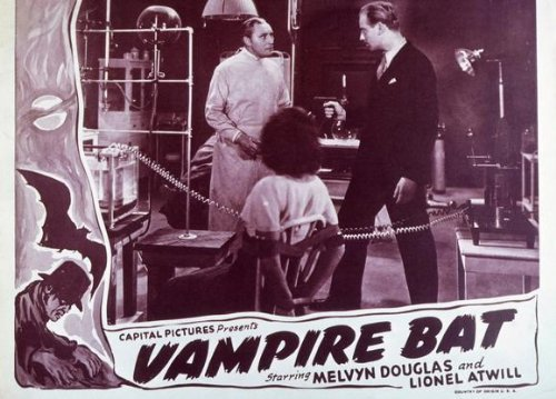 The Vampire Bat Starring Lionel Atwill, Fay Wray, and Melvyn Douglas