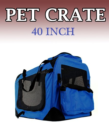 New Xl Dog Pet Puppy Portable Foldable Soft Crate Playpen Kennel House - Blue