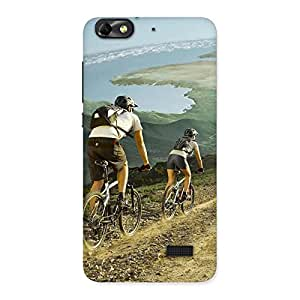 Premium Bycycle View Back Case Cover for Honor 4C