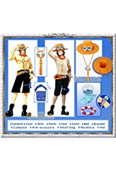 One Piece - Portgas D. Ace Cosplay Costume [Deluxe Set]