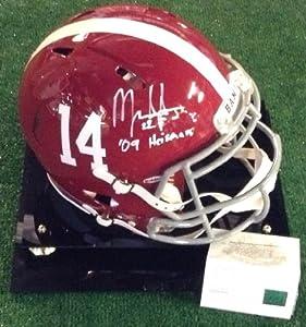 Mark Ingram autographed authentic Alabama Crimson Tide speed helmet with multiple... by Man+Cave+Pro+Memorabilia