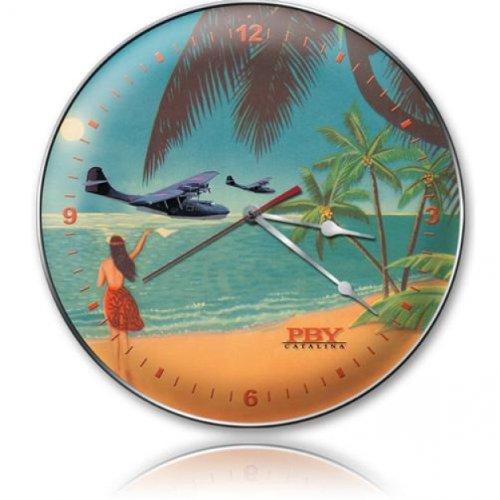 PBY Aloha Aviation Clock - Garage Art Signs