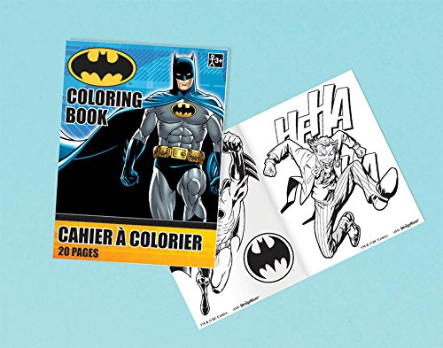 Amscan Awesome Batman Coloring Book (1 Piece), Blue/Black, 3 1/2 x 2 1/2""
