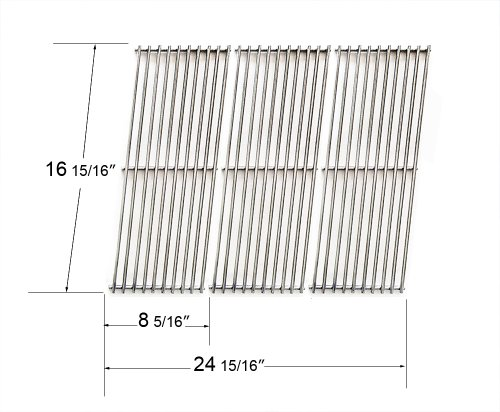 66123 - Centro, Char-Broil, Fiesta, Kenmore, Kirkland, Kmart, Master Chef, Savor Pro And Thermos Stainless Steel Cooking Grid front-573398